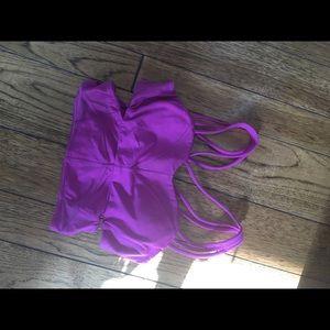 Lululemon cropped tank/sports bra